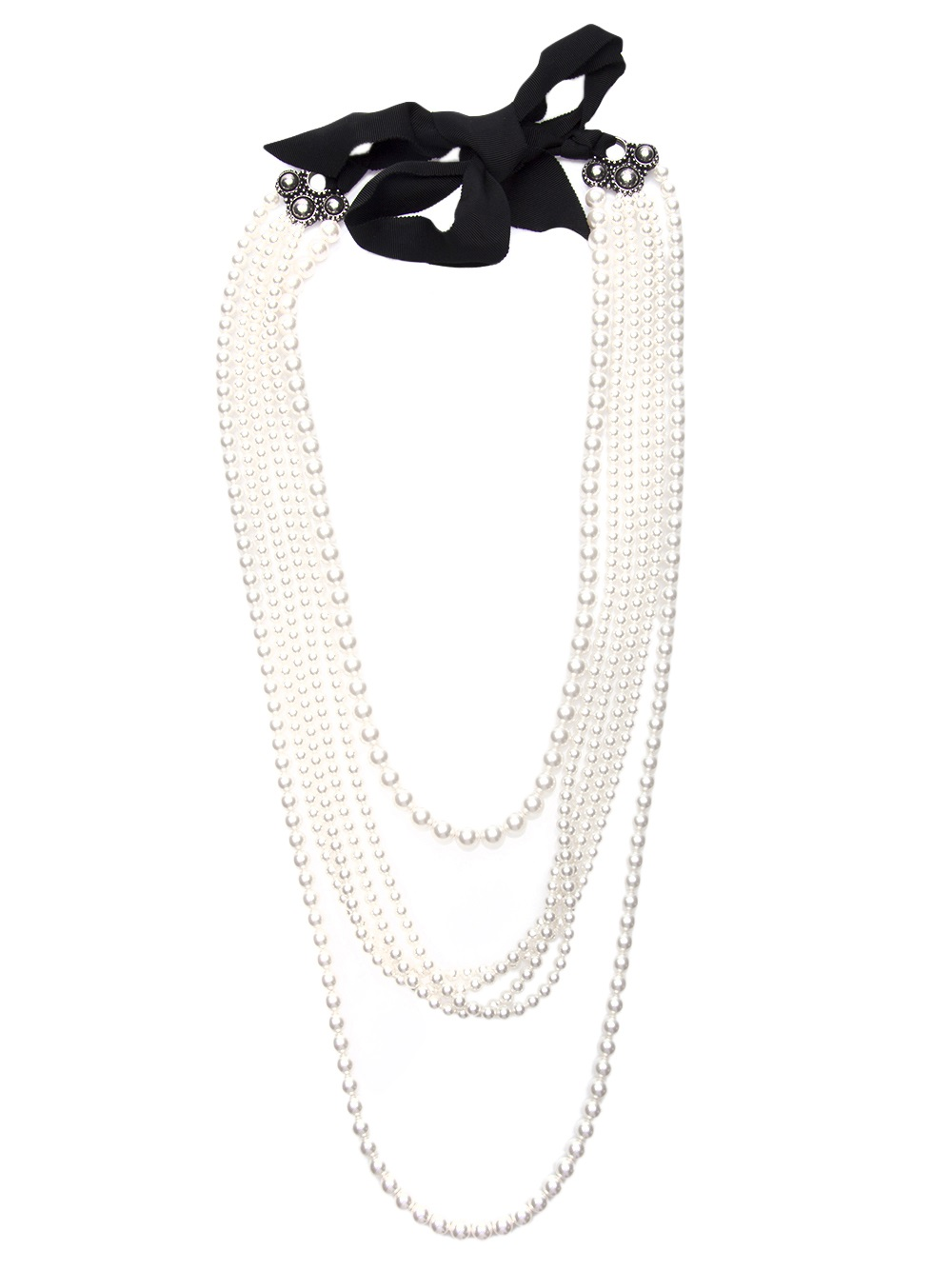 Lyst Lanvin Multiple Strand Pearl Necklace In White