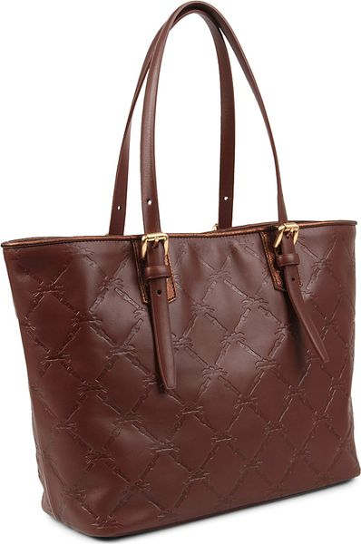 longchamp lm cuir small tote in brown cognac lyst. Black Bedroom Furniture Sets. Home Design Ideas