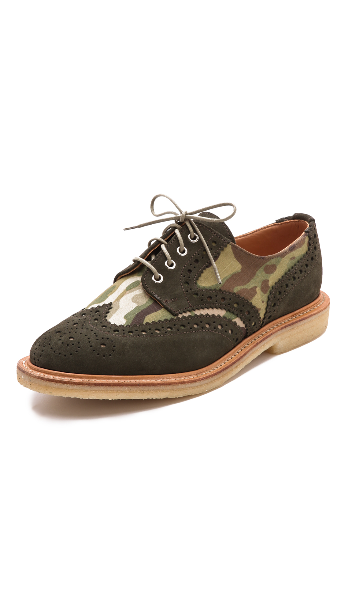 Lyst mark mcnairy new amsterdam multi camo brogues in for Amsterdam products