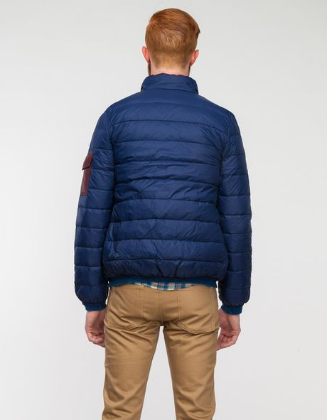 Native Youth Down Puffa Jacket Navy In Blue For Men Navy