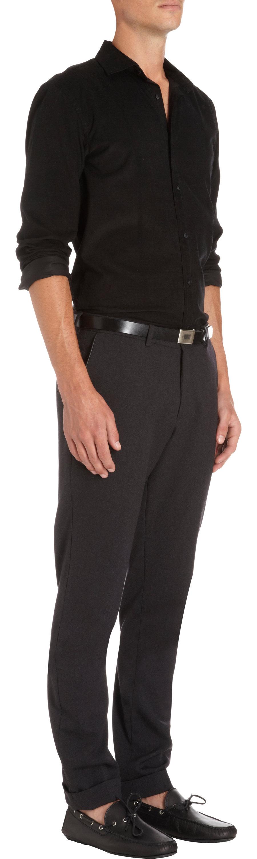 Ralph lauren black label corduroy dress shirt in black for for Lauren ralph lauren mens dress shirts
