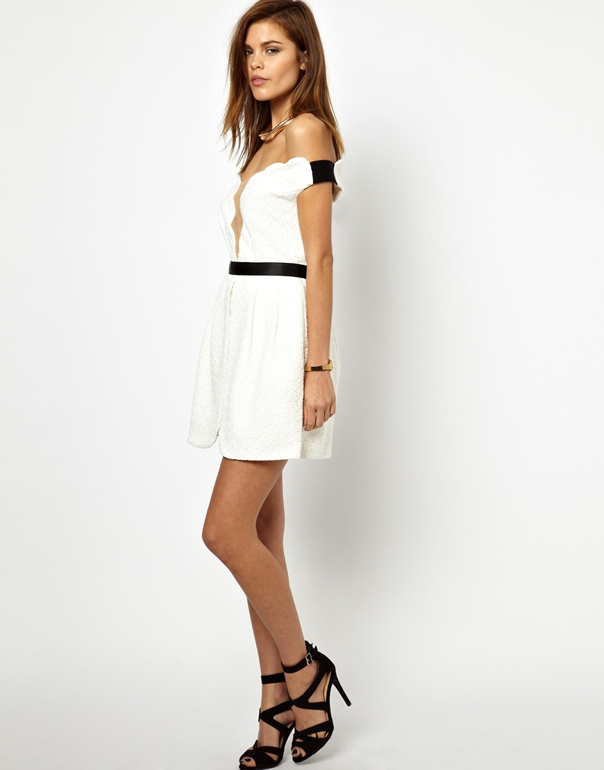 Lyst three floor white out dress in white for Three floor yellow dress