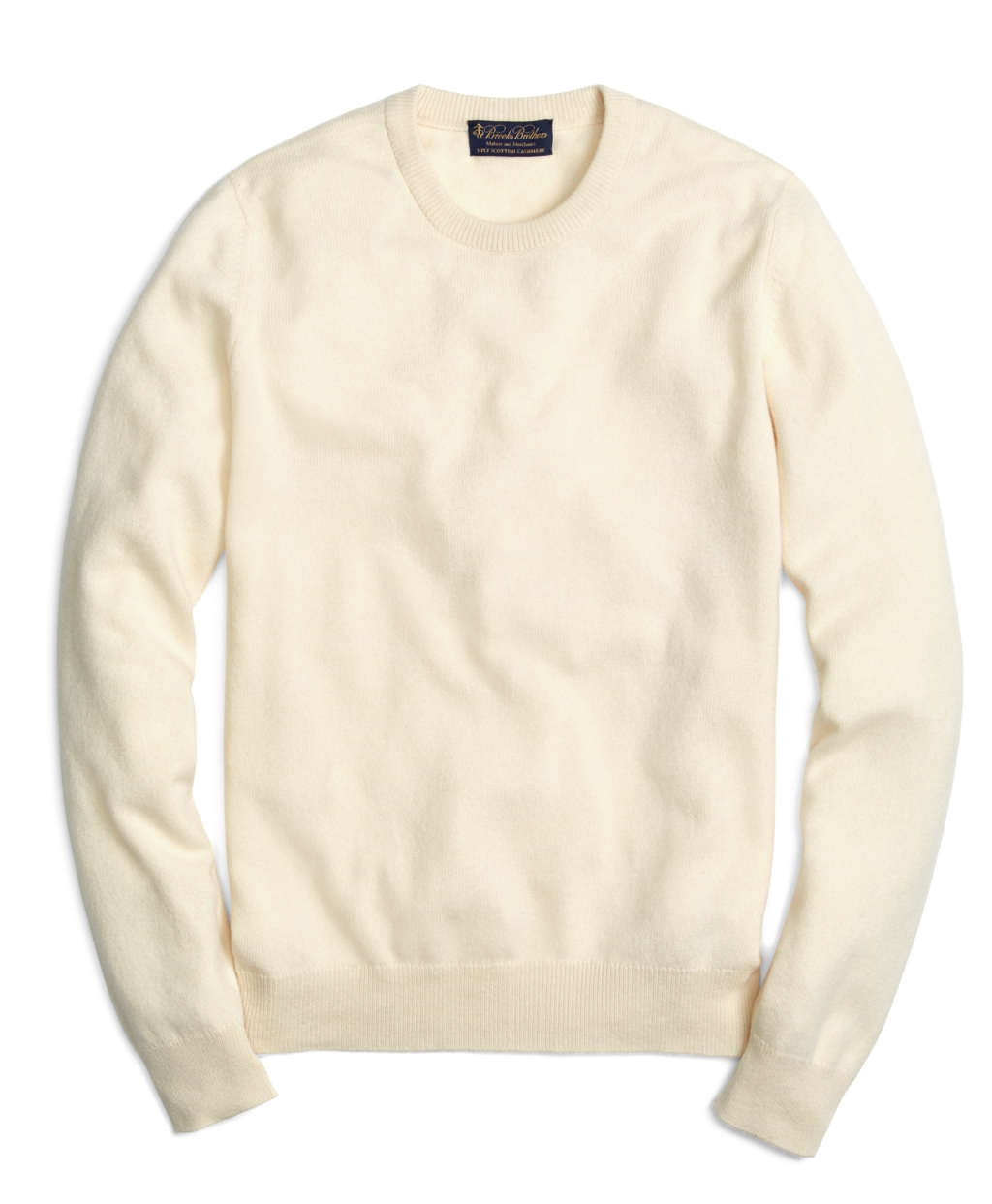 Brooks brothers Cashmere Crewneck Sweater in Natural for Men | Lyst