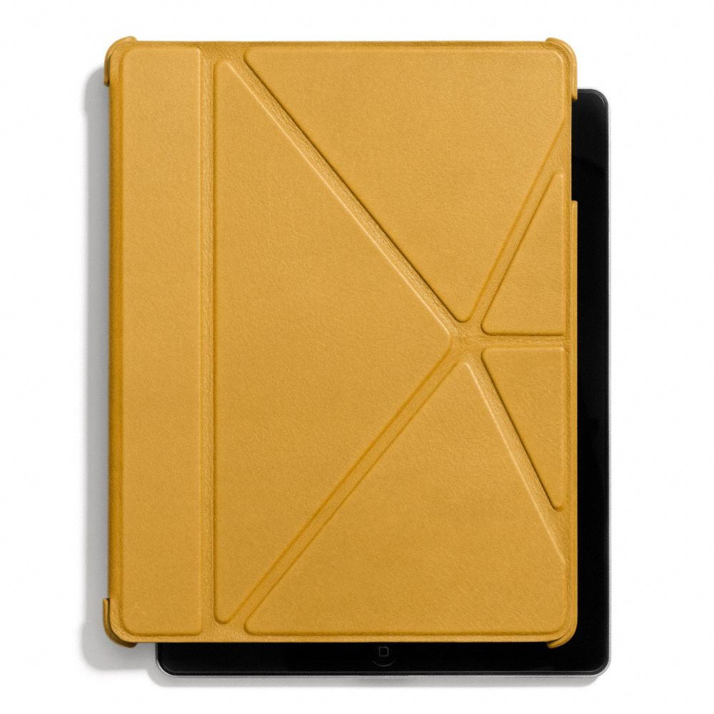 Lyst Coach Bleecker Leather Molded Origami Ipad Case In Yellow For Men