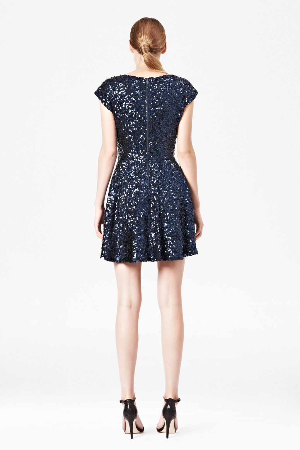 French Connection Spectacular Sparkle Dress In Blue Lyst