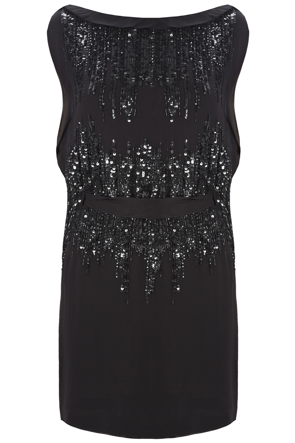 7c34b78adb5 French Connection Silver Simmons Sequin Dress in Gray - Lyst