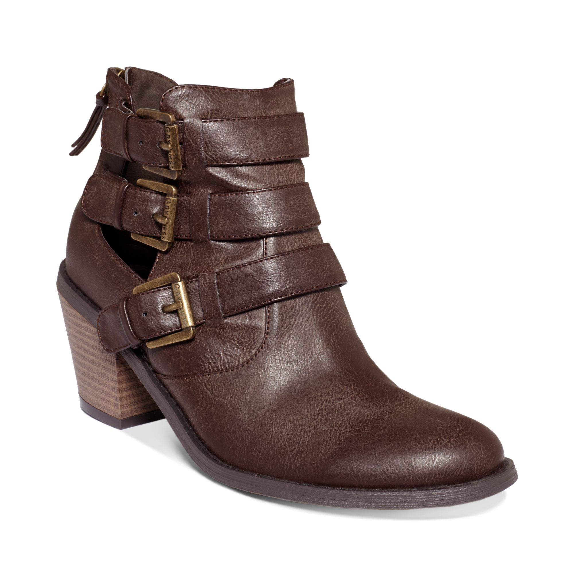 g by guess womens boots gavin booties in brown lyst