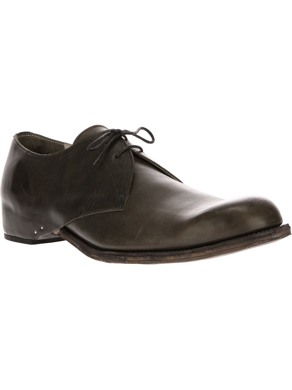 Individual Sentiments Oxford Shoe In Black For Men (green) | Lyst