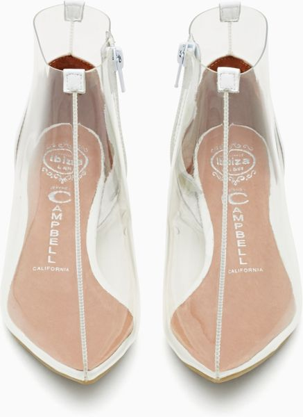 Nasty Gal Jeffrey Campbell Otho Clear Bootie In White