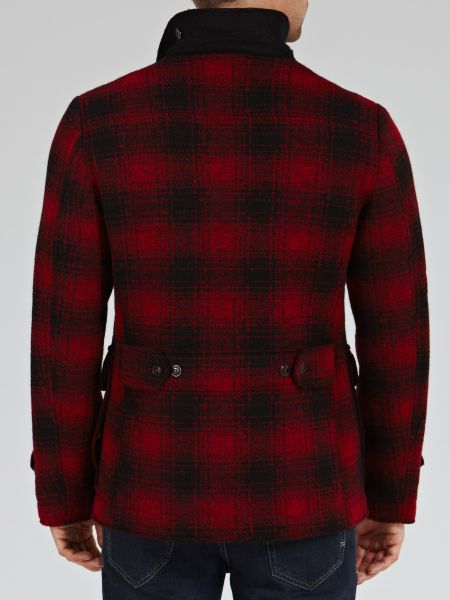 Woolrich Mackenzie Wool Hunting Jacket In Red For Men Red