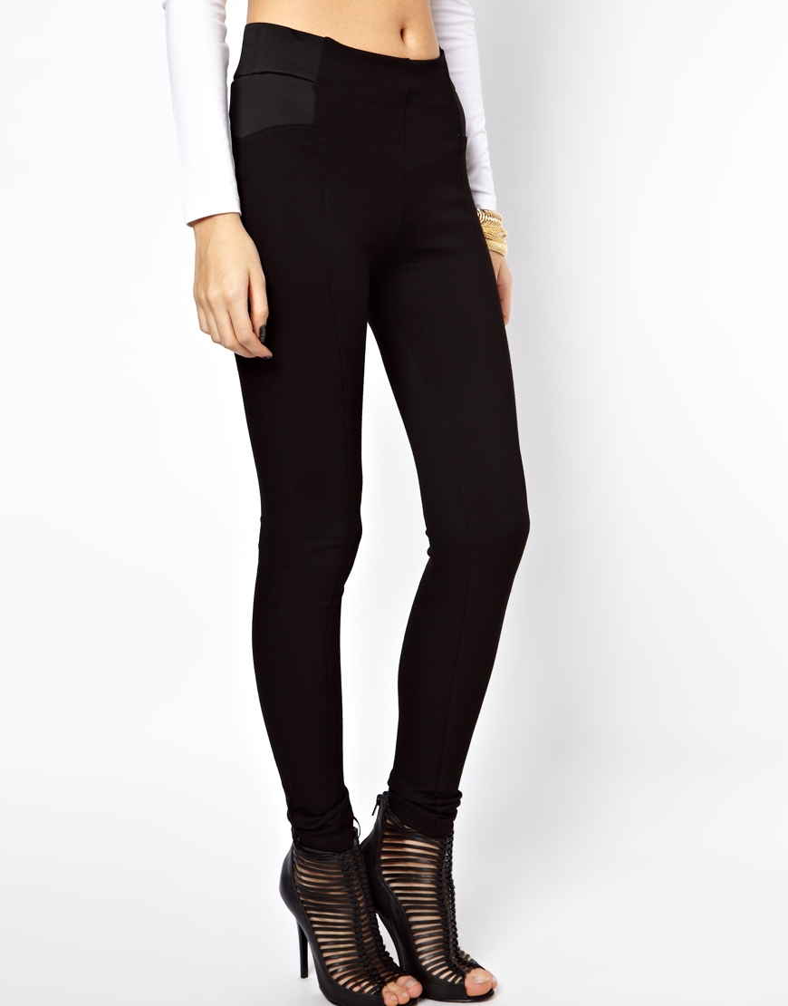 Lyst - Asos Tube Pants With High Waist And Elastic Side -8825