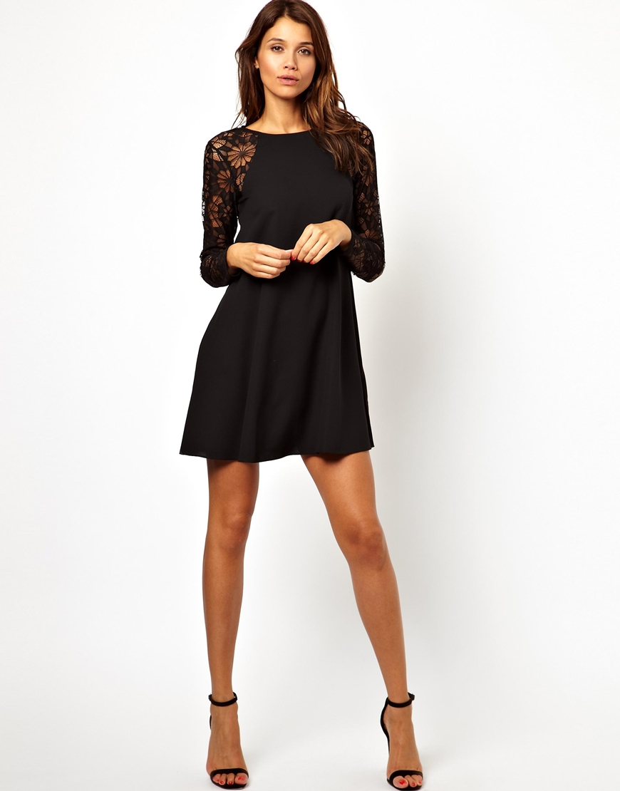Black dress lace sleeves - Black Dress Lace Sleeves Re Re