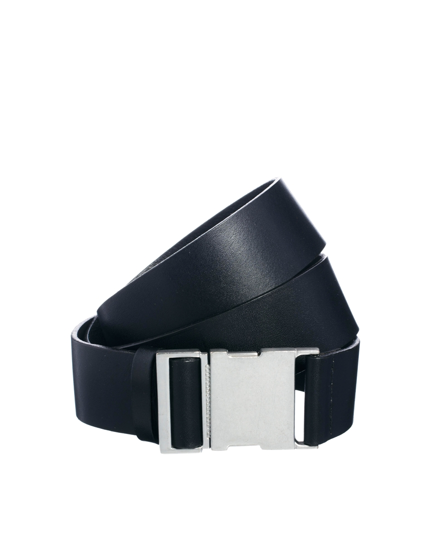 cheap monday leather utility belt in black lyst