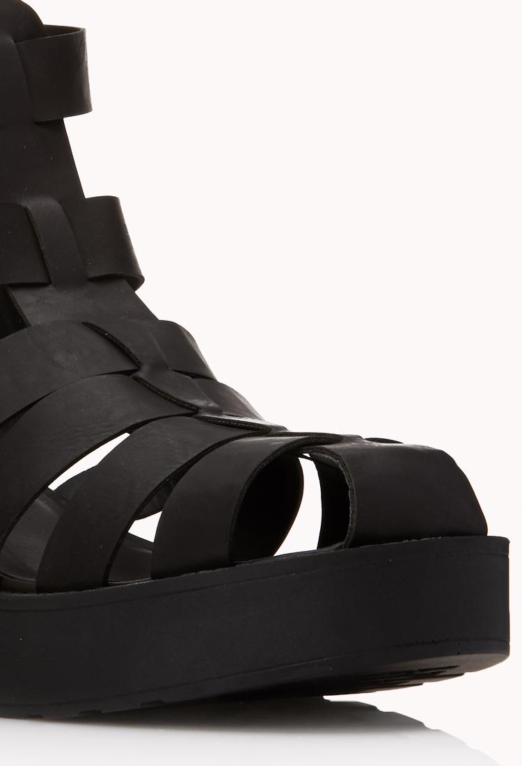 Forever 21 Modernist Fisherman Sandals In Black Lyst