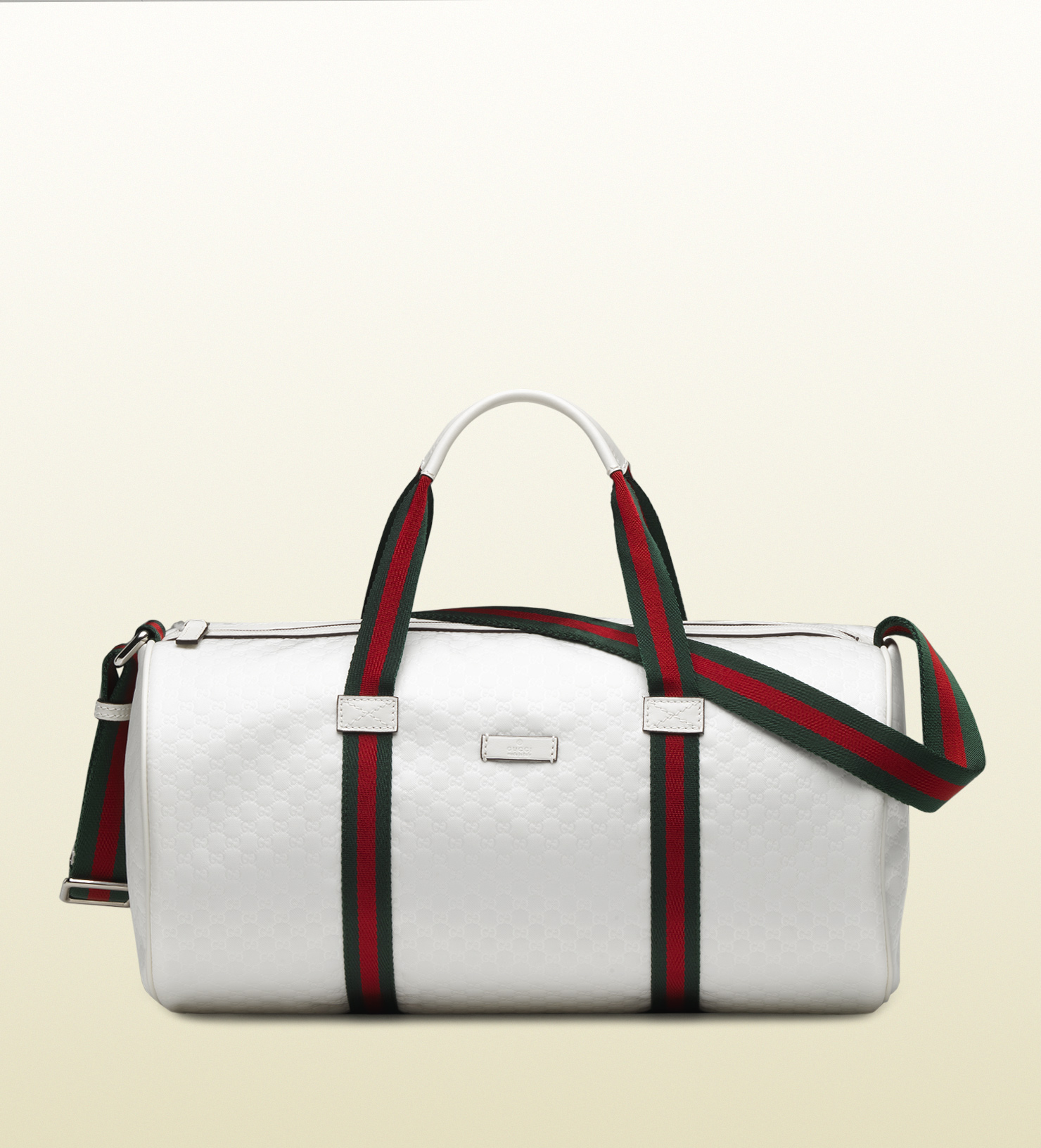 Lyst - Gucci White Micro Gg Nylon Gym Bag in White for Men