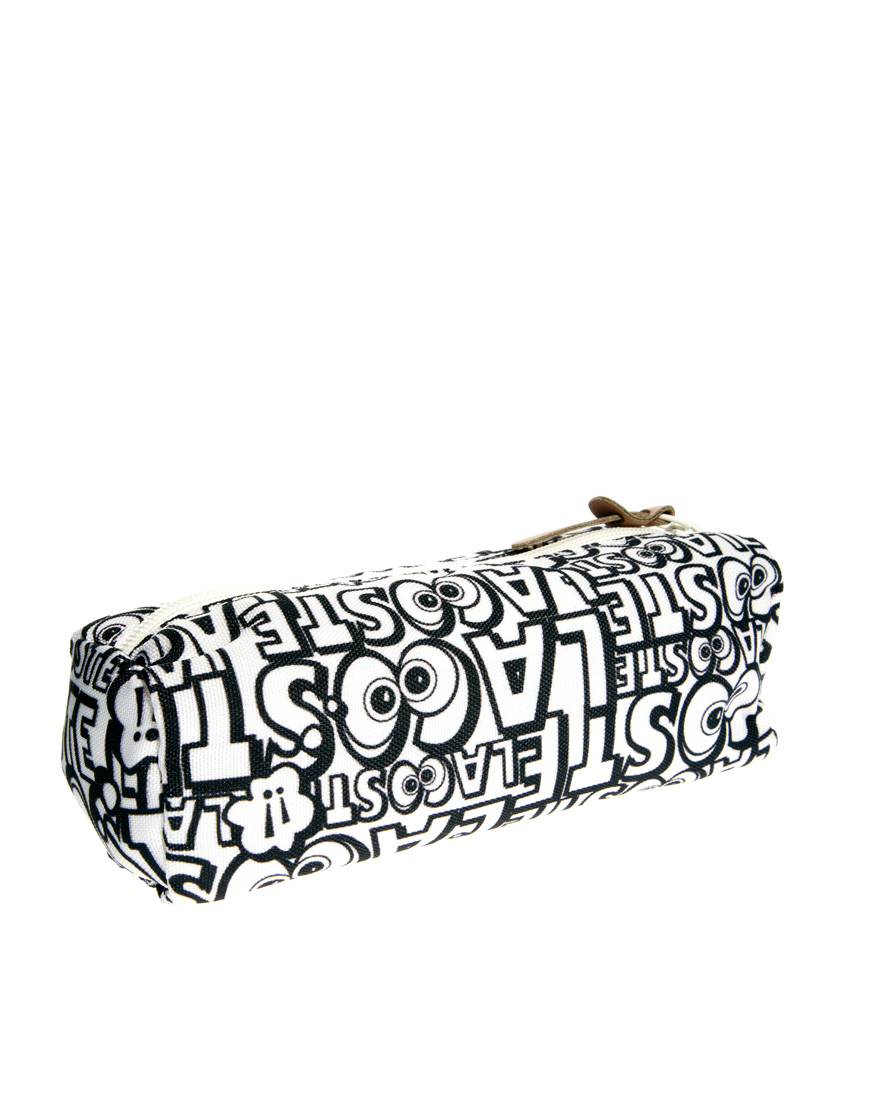 Lyst Asos Lacoste Print Pencil Case In Black For Men