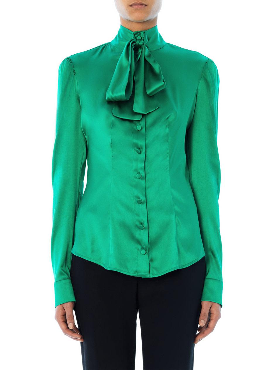 Womens Emerald Green Blouse 5