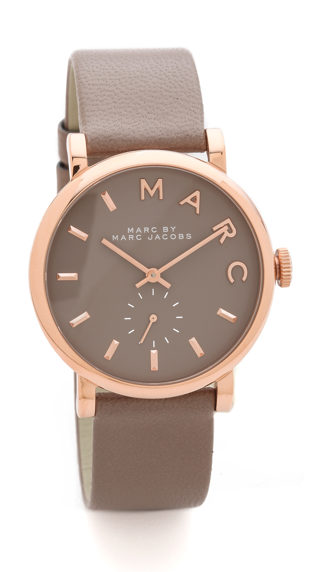 marc by marc jacobs leather baker watch in brown lyst. Black Bedroom Furniture Sets. Home Design Ideas
