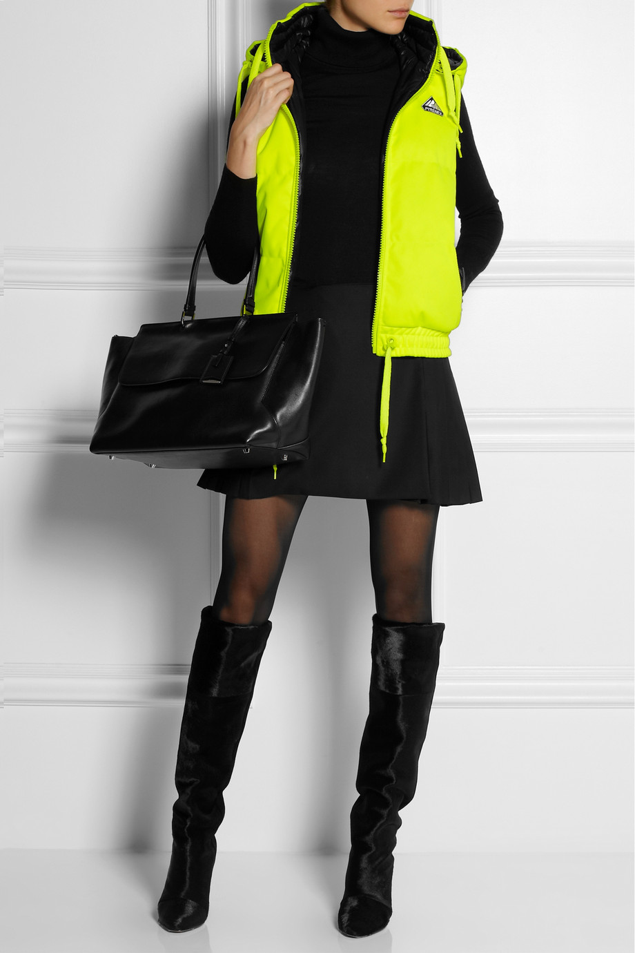 Pyrenex Reversible Down Gilet In Yellow Lyst