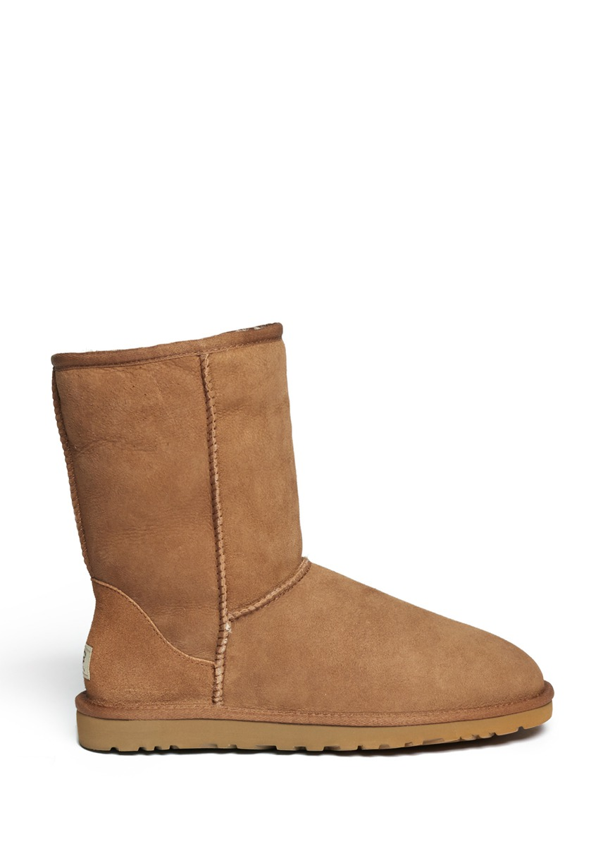 ugg classic short boots in beige neutral and brown lyst. Black Bedroom Furniture Sets. Home Design Ideas