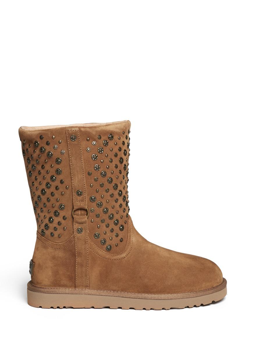 86a5f49ebed UGG Brown Elliot Studded Short Boots