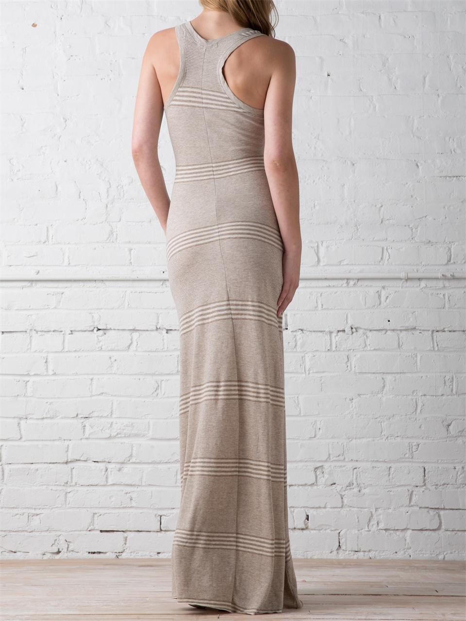 Lyst Alternative Apparel Jacquard Racerback Maxi Dress In Gray