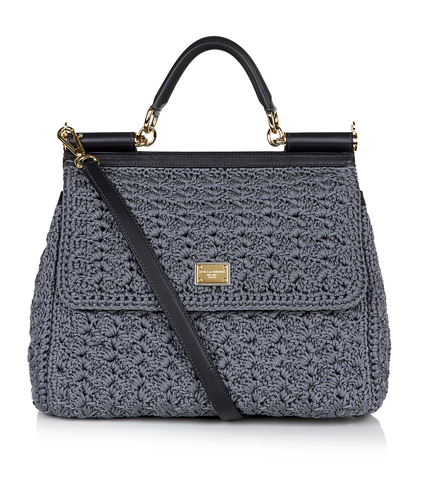 Dolce & gabbana Miss Sicily Classic Crochet Bag in Gray Lyst