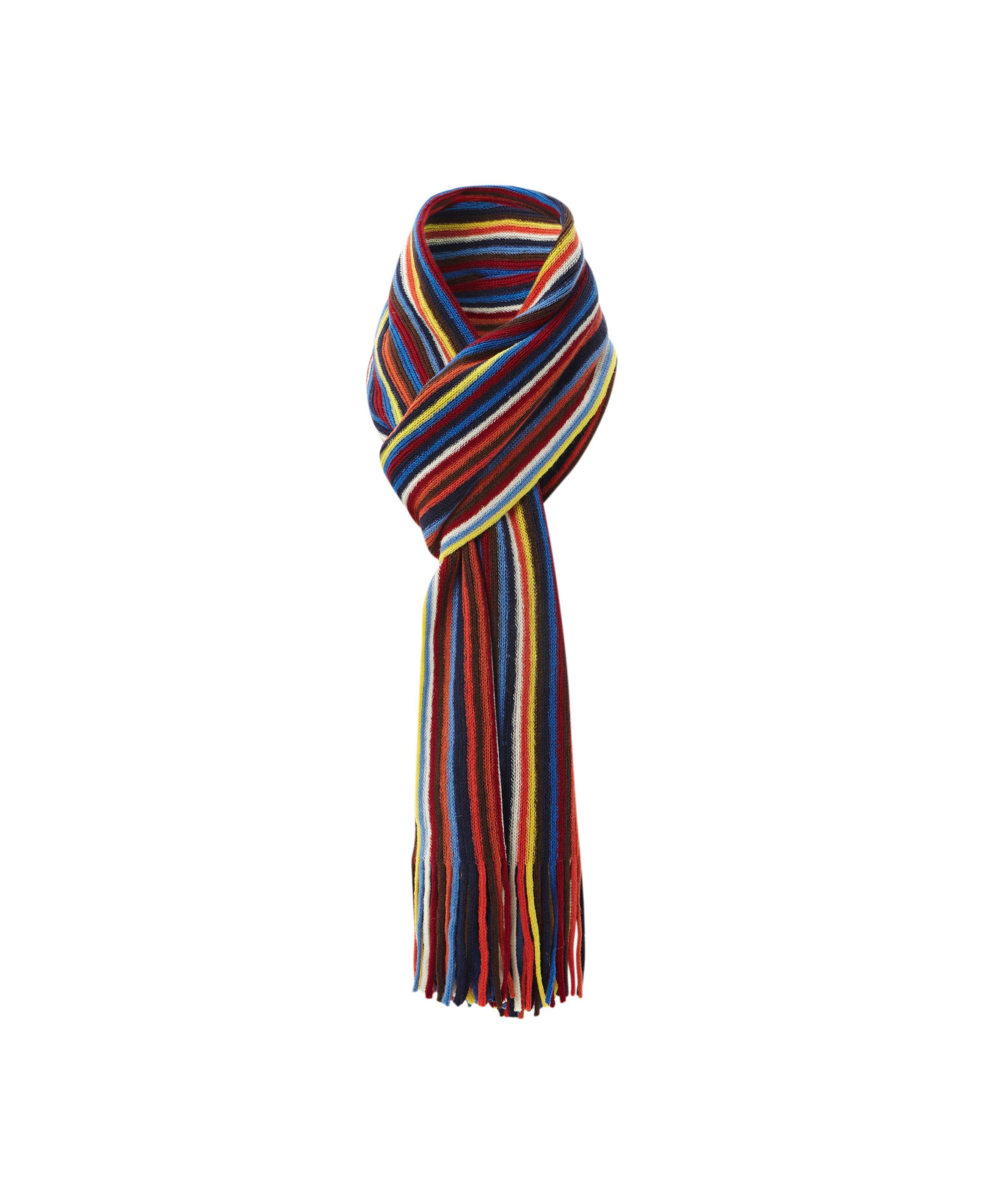 dune parrot bright multi stripe scarf for lyst