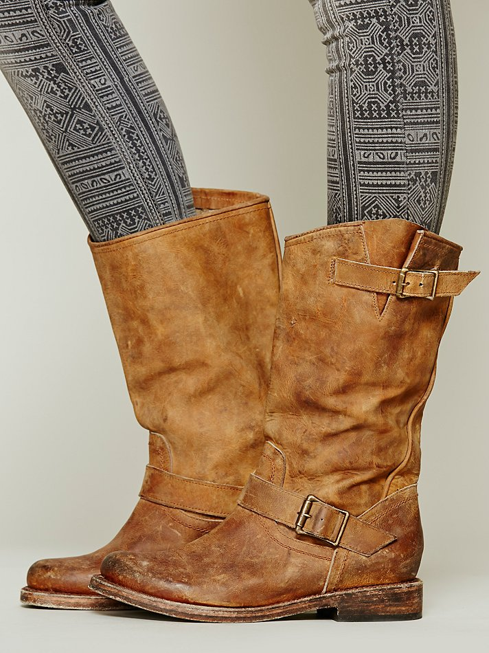 Lyst Freebird By Steven Prescott Tall Boot In Brown
