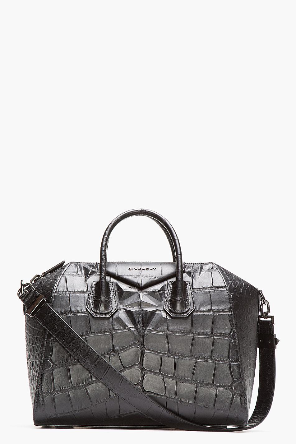 Givenchy Antigona Bag Leather And Crocodile Embossed Large RtVjaEb