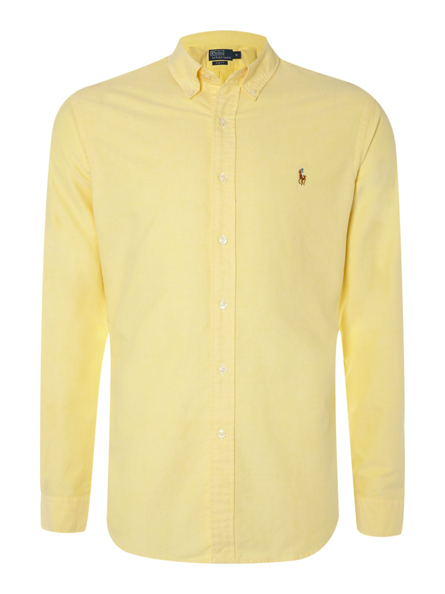 Polo ralph lauren Classic Long Sleeve Shirt in Yellow for Men | Lyst