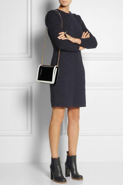 Black Faux Leather Shoulder Bag 112