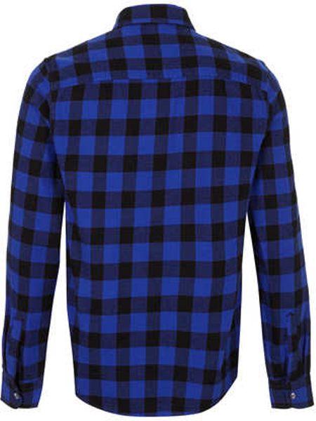 Blue Gingham Mens Shirt