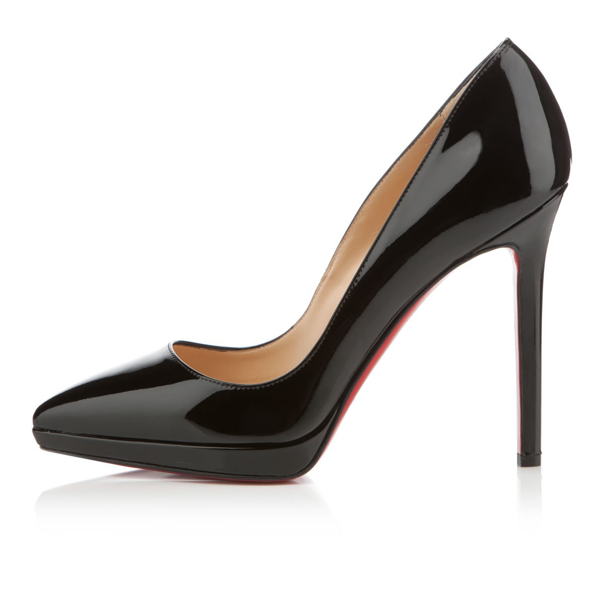 christian louboutin patent leather asymmetrical d\u0026#39;Orsay pumps ...