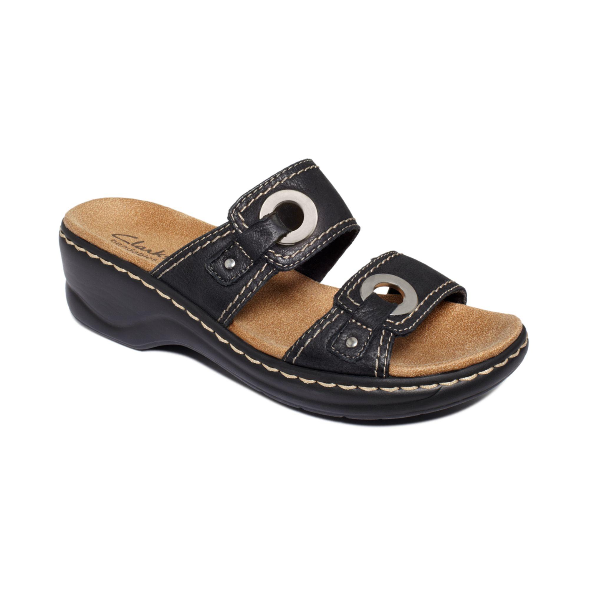 Lyst Clarks Lexi Willow Slide Sandals In Black