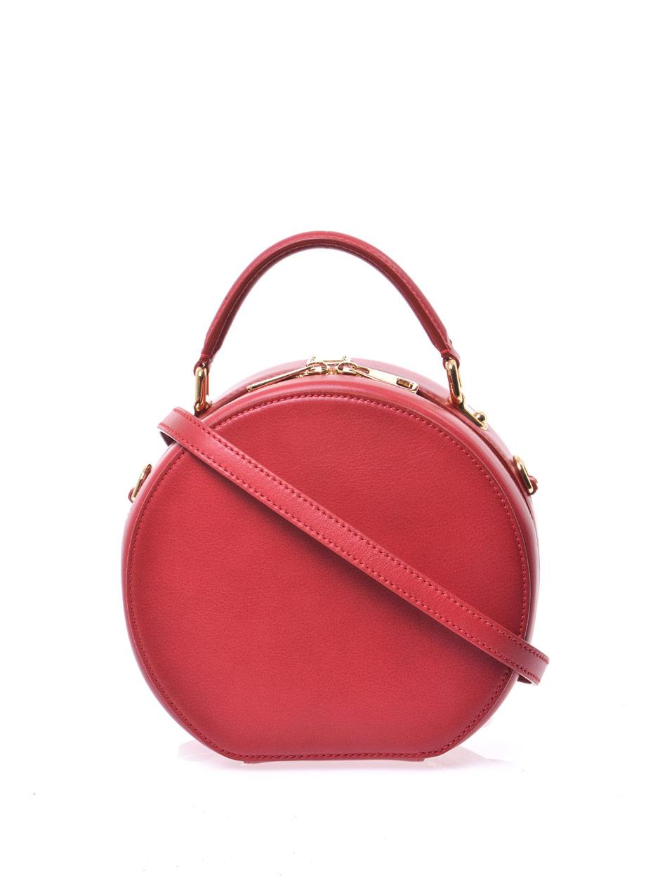 lyst dolce amp gabbana anna circular crossbody bag in red
