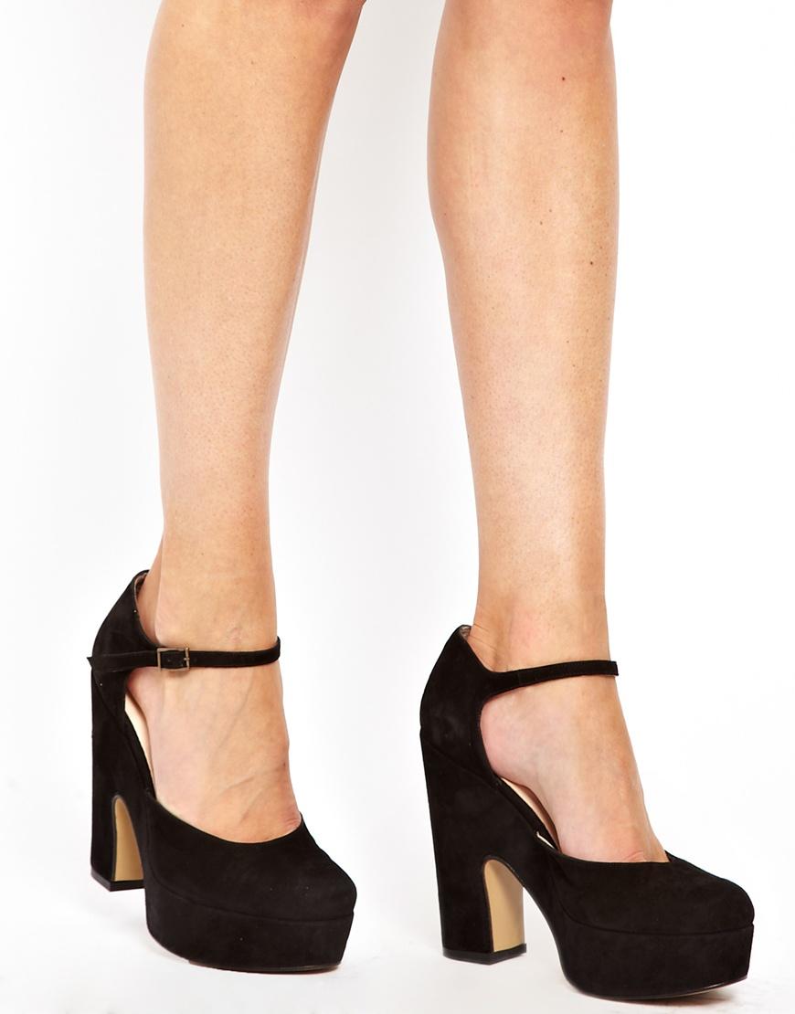 Lyst Ganni Bambi Suede Platform 70s Shoes In Black
