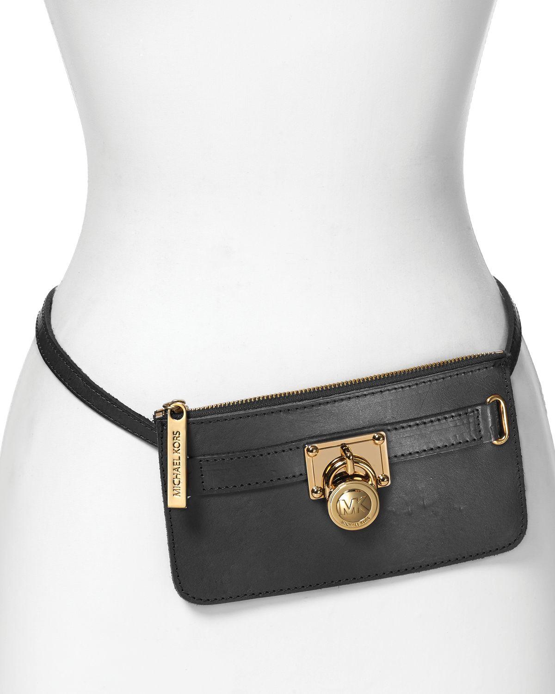 Michael Michael Kors Belt Bag With Charm In Black Lyst