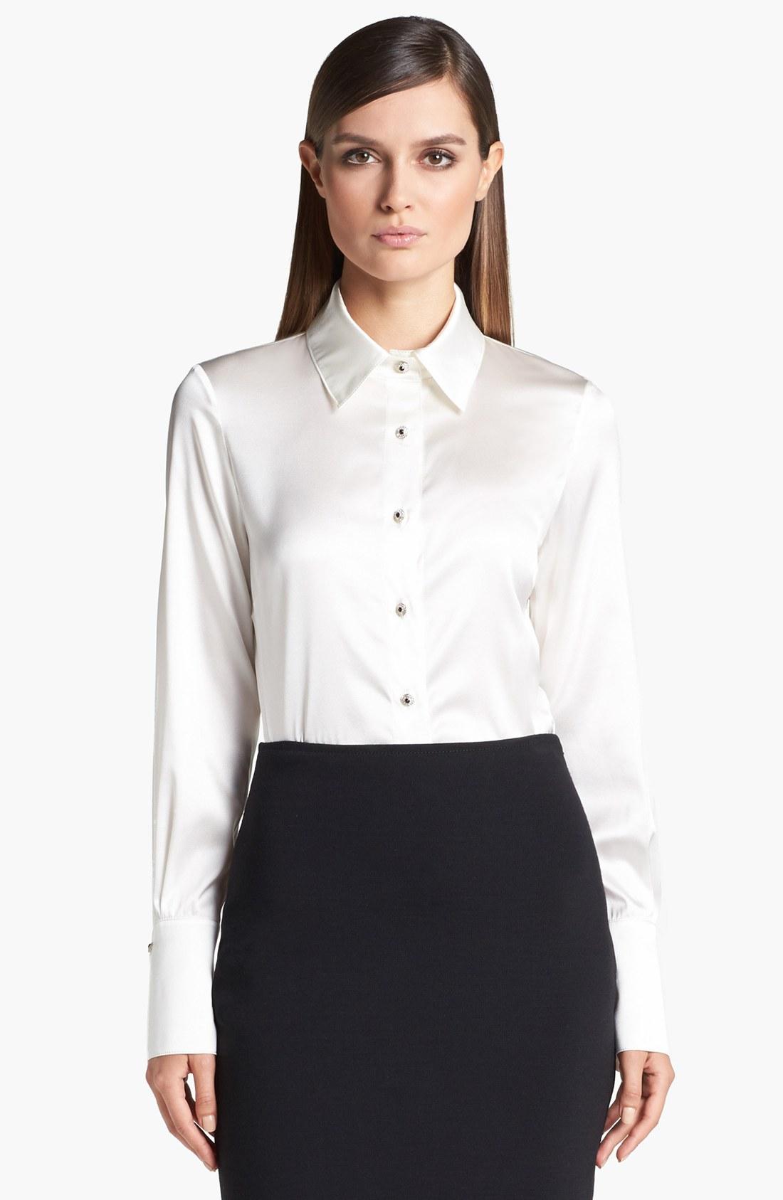 Silk White Blouse 32