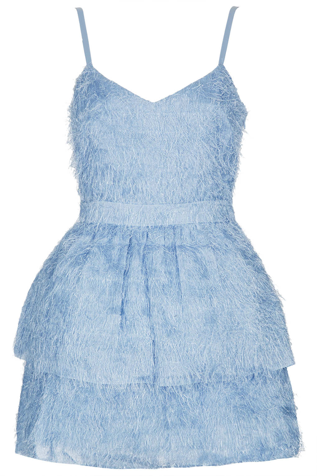 Lyst - Topshop Petite Feather Prom Dress in Blue