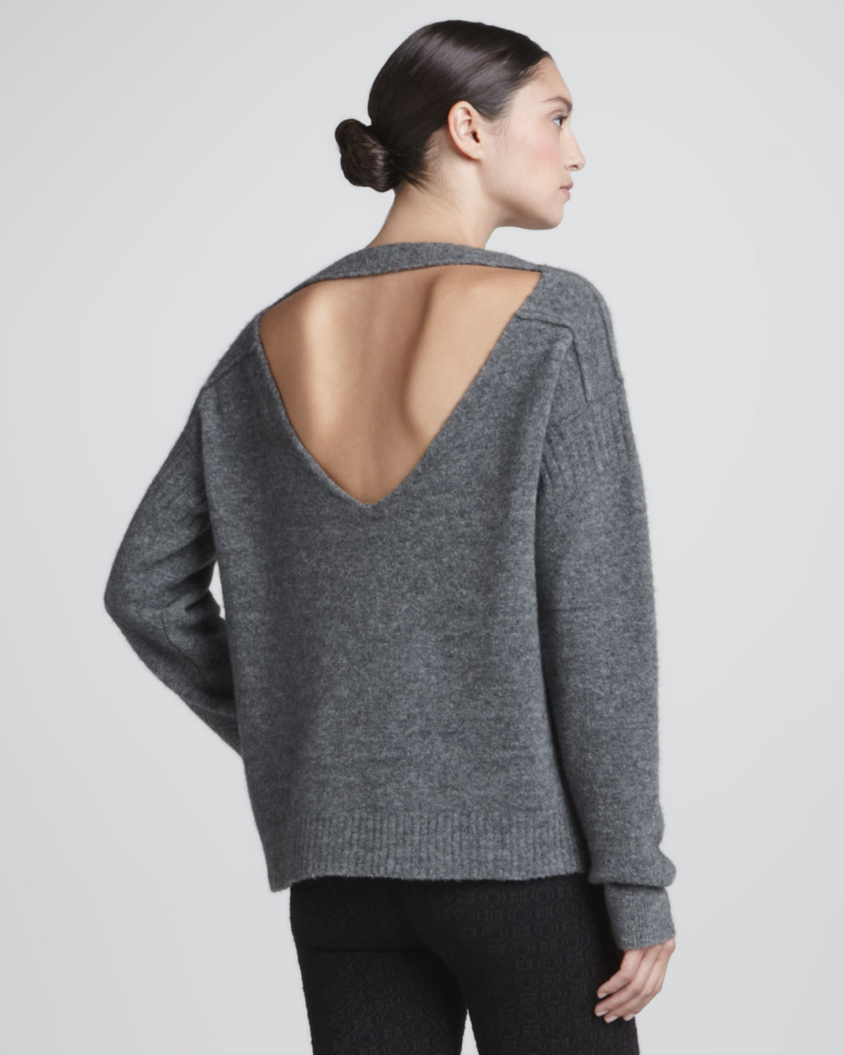 lyst a l c arnaud open back sweater in gray