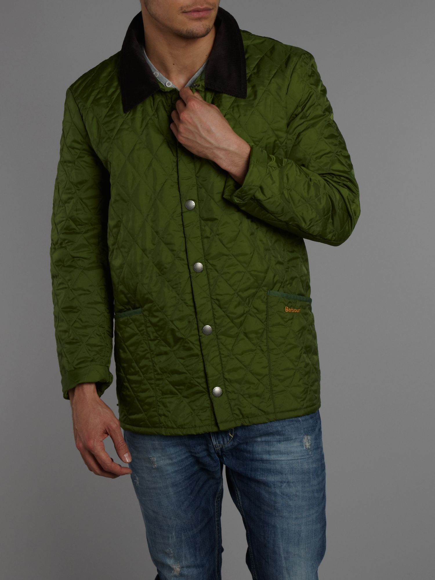 Lyst barbour lightweight liddesdale quilted jacket in for Quilted jackets for men