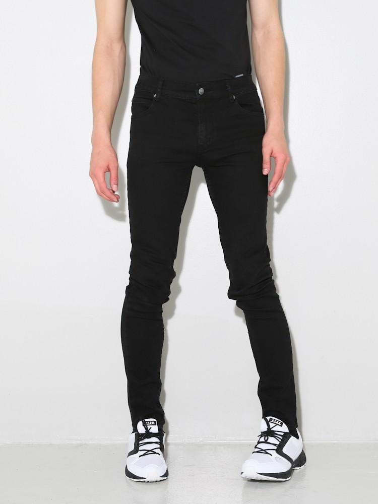 cheap monday jeans tight stretch skinny fit destroy black. Black Bedroom Furniture Sets. Home Design Ideas