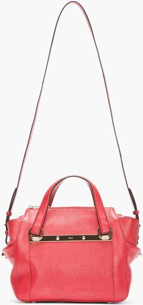 Chloe Red Pebbled Leather Bridget Shoulder Bag 59