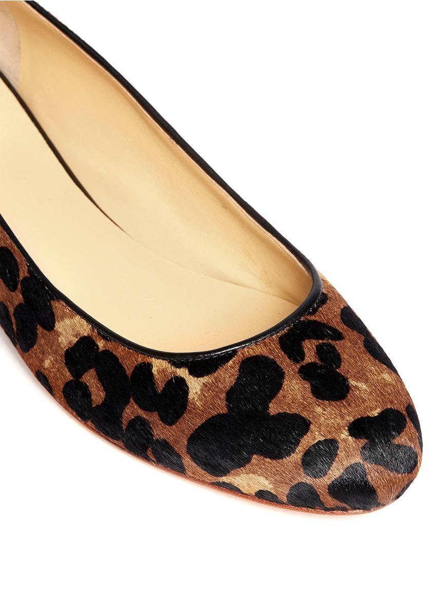 Cole Haan Astoria Leopard Ballet Flats Lyst