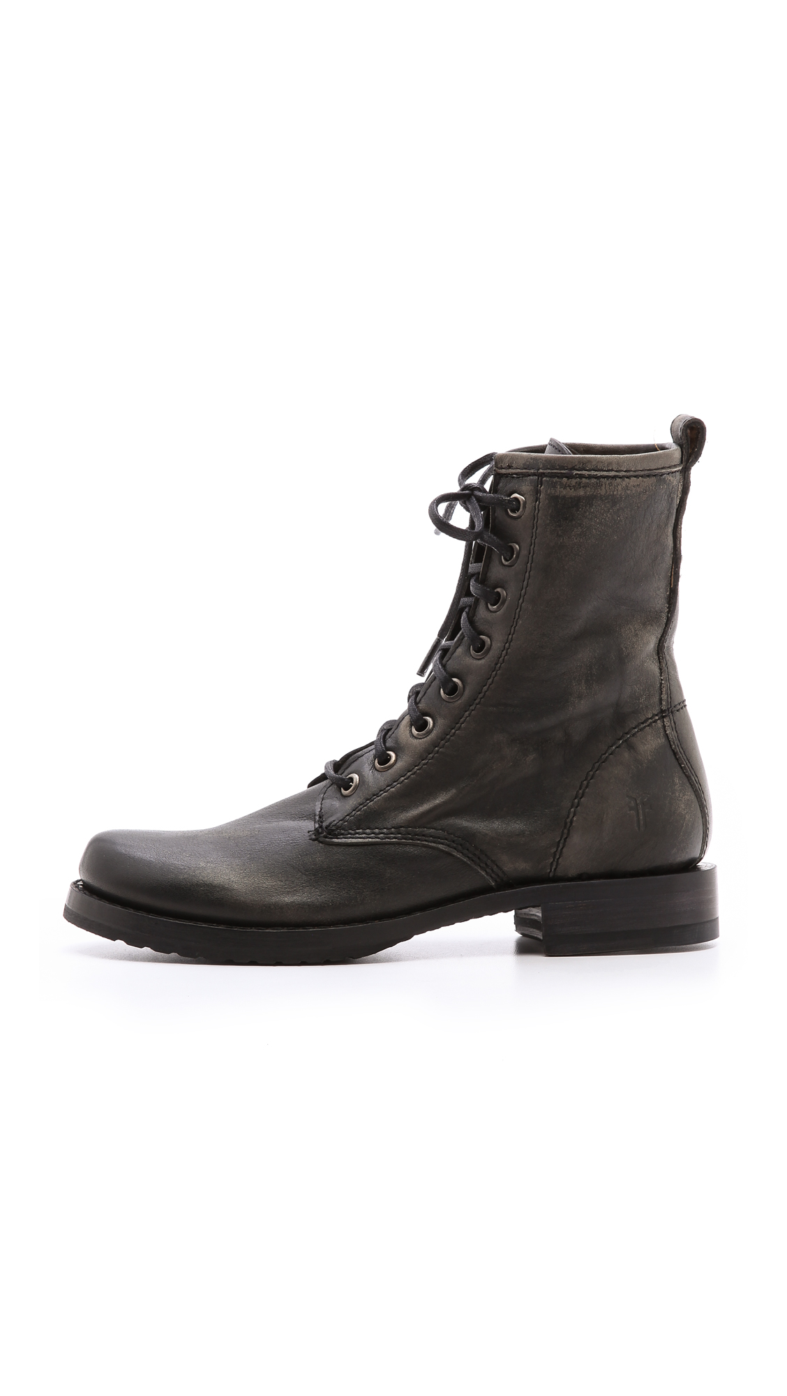 Lyst Frye Veronica Combat Boots In Black