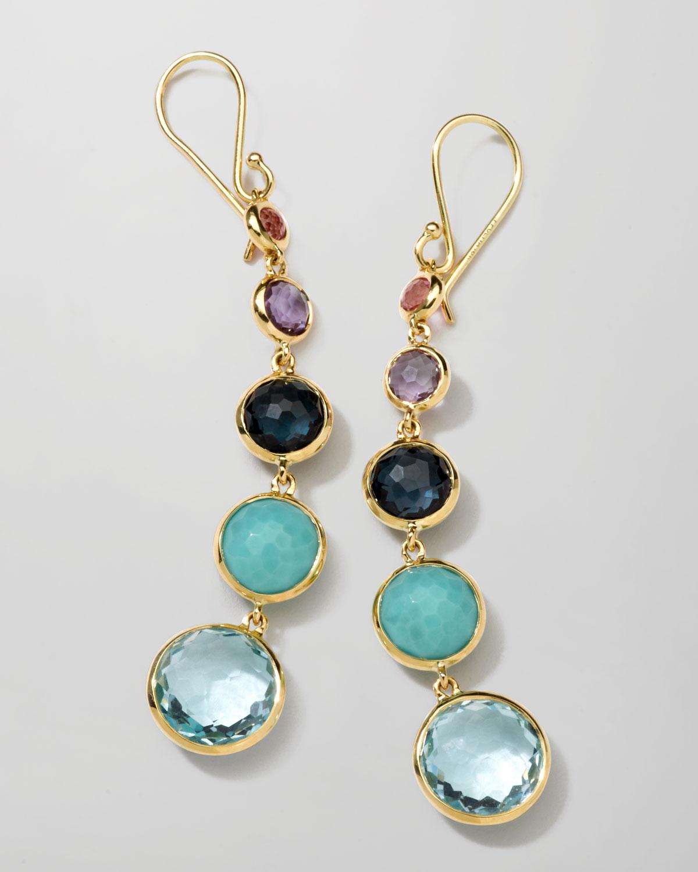 Ippolita 18k Gold Rock Candy Lollitini Earrings In Multi