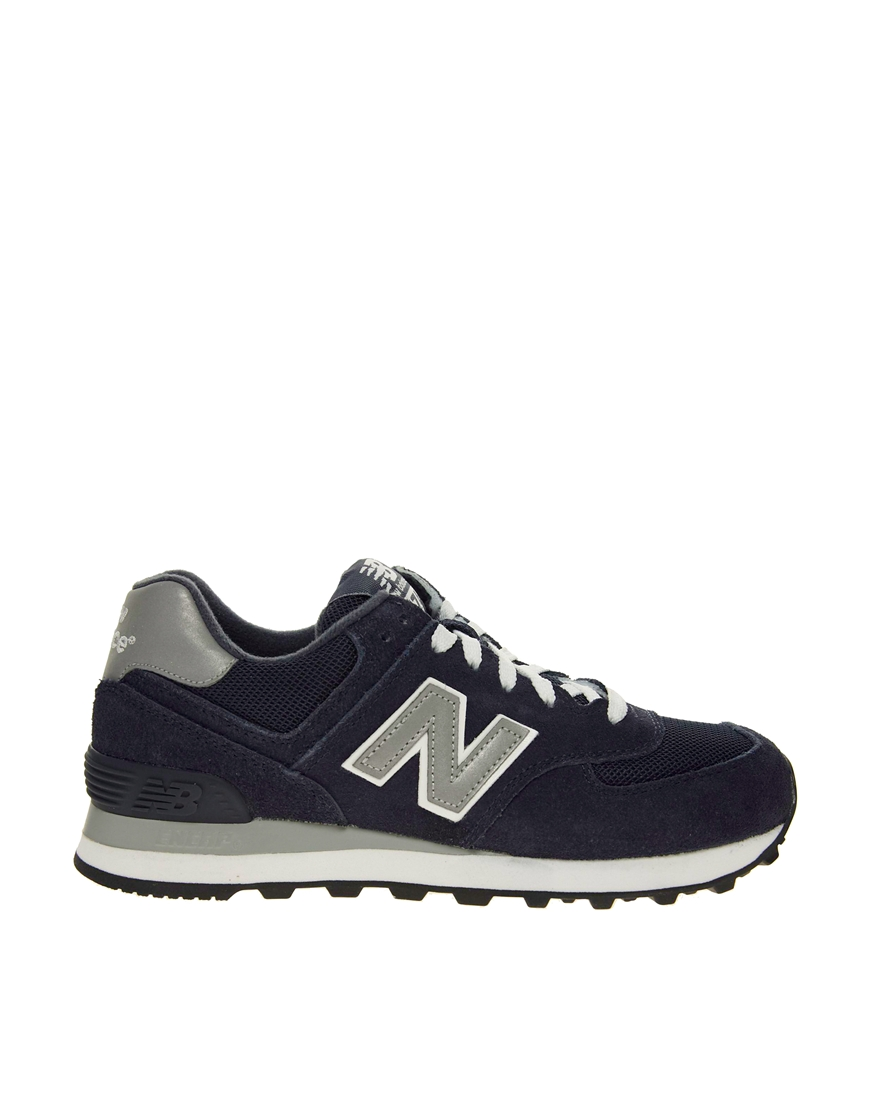 lyst new balance 574 navy trainers in blue. Black Bedroom Furniture Sets. Home Design Ideas