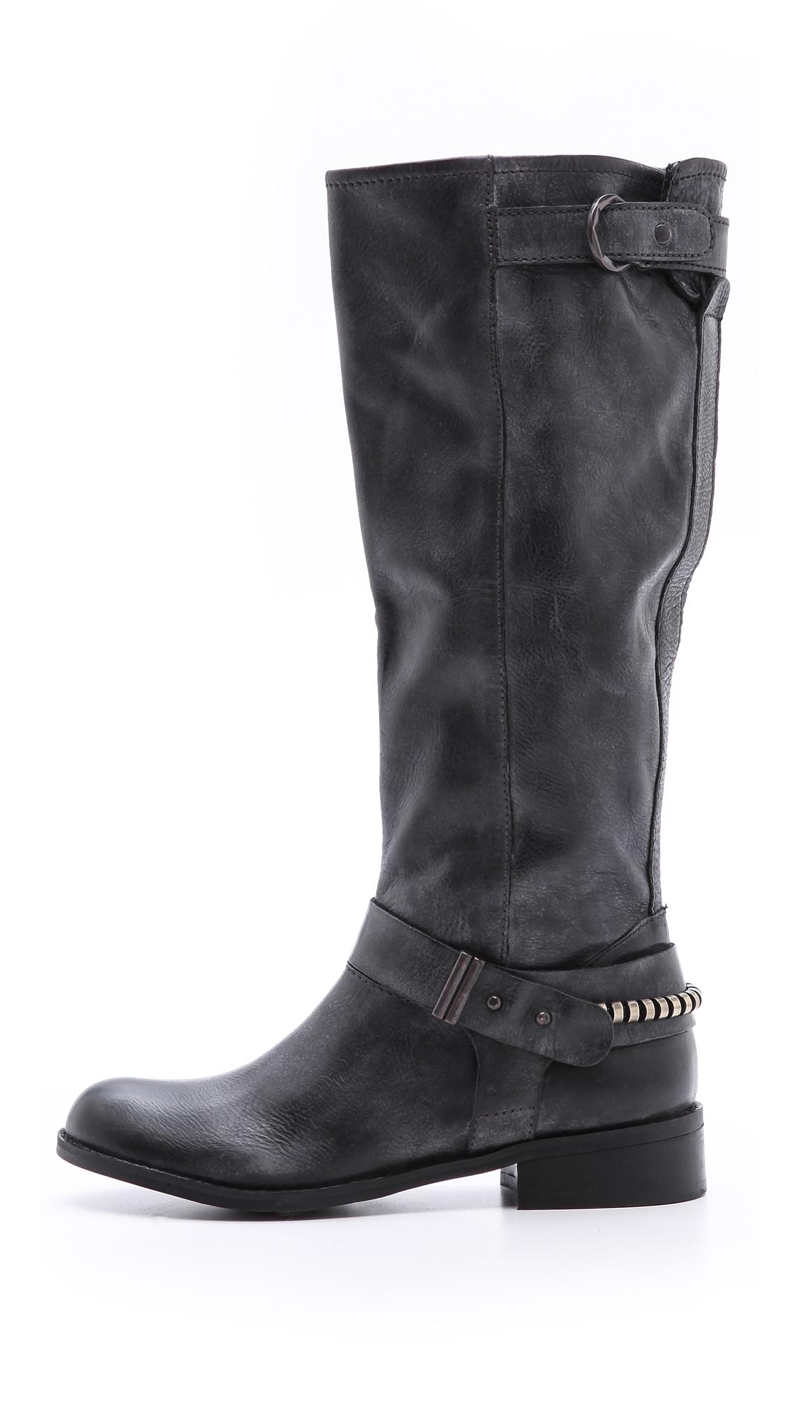 steven by steve madden ryley flat boots in black lyst