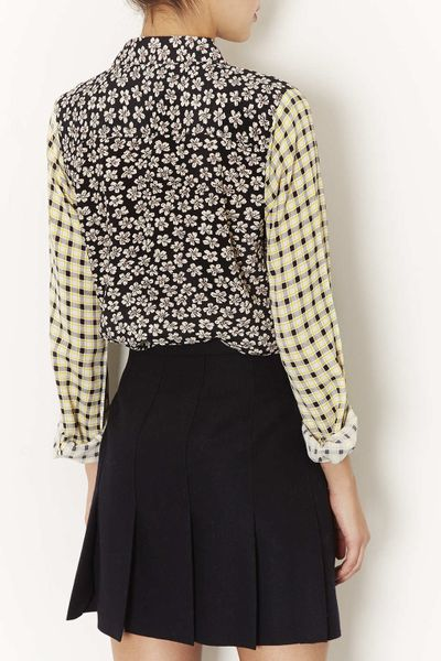 Topshop Floral Check Mix Match Shirt in Multicolor (MULTI ...